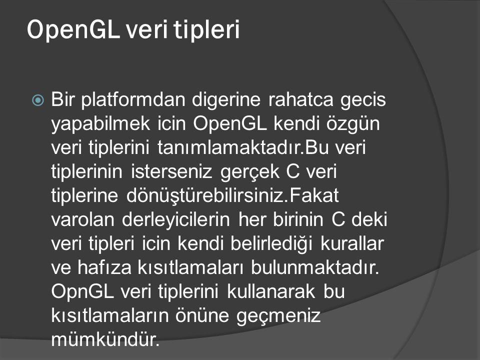 OpenGL veri tipleri