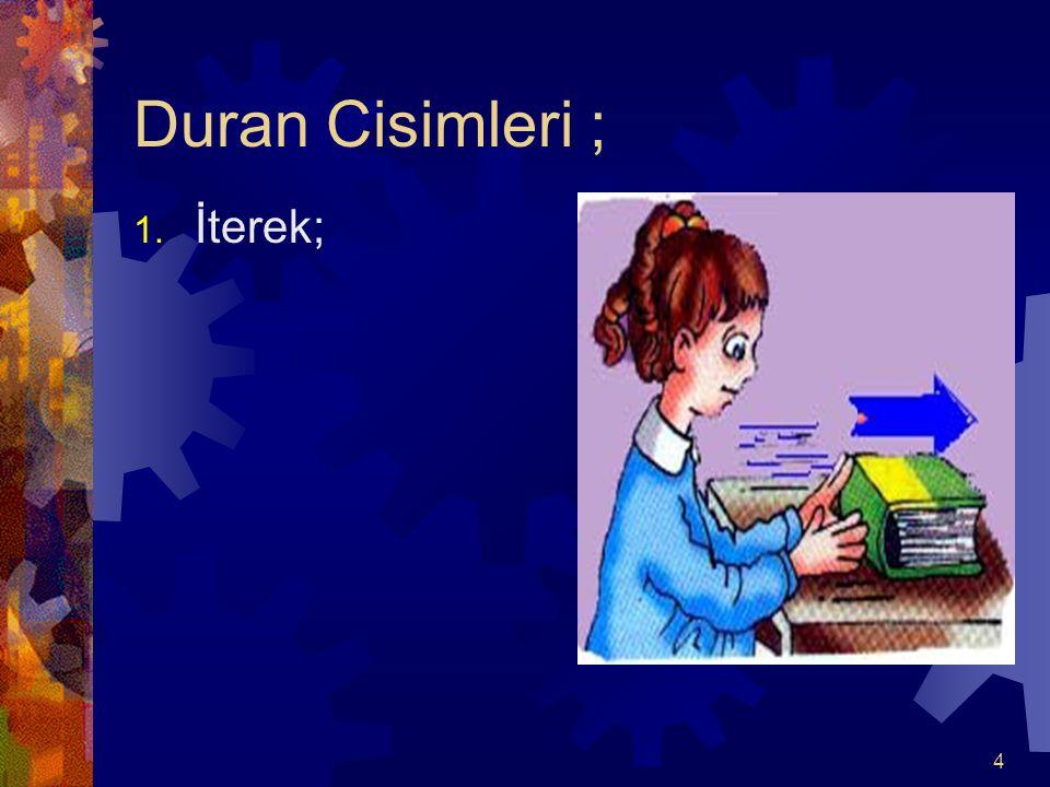 Duran Cisimleri ; İterek;