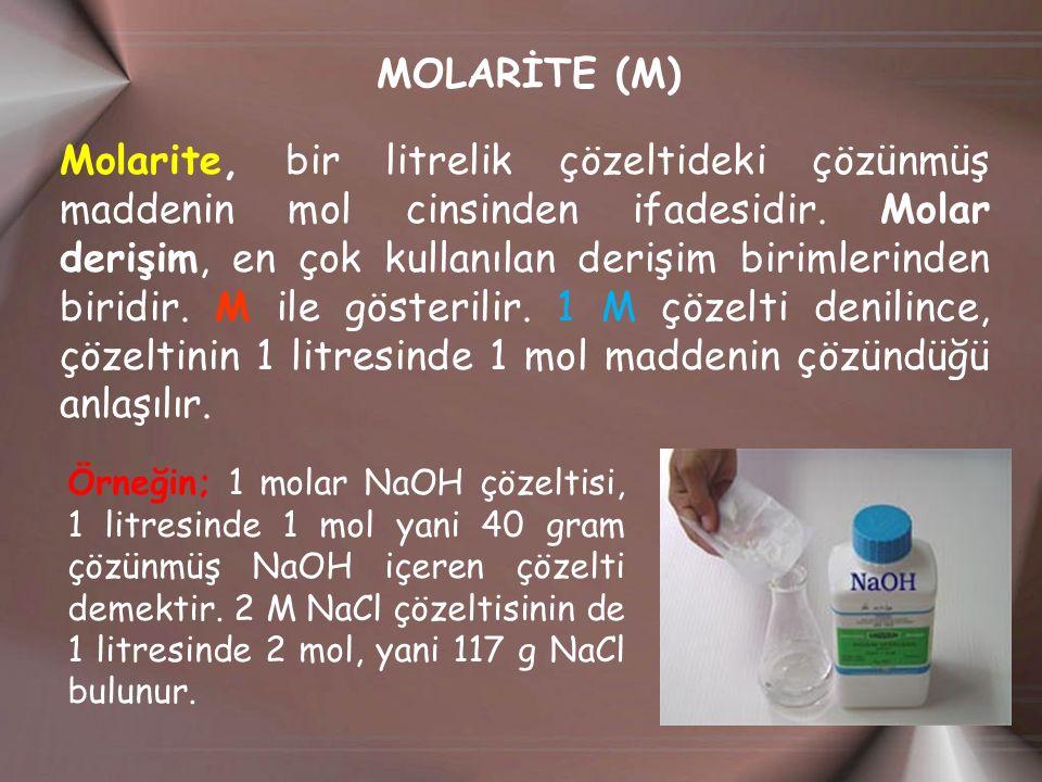 MOLARİTE (M)