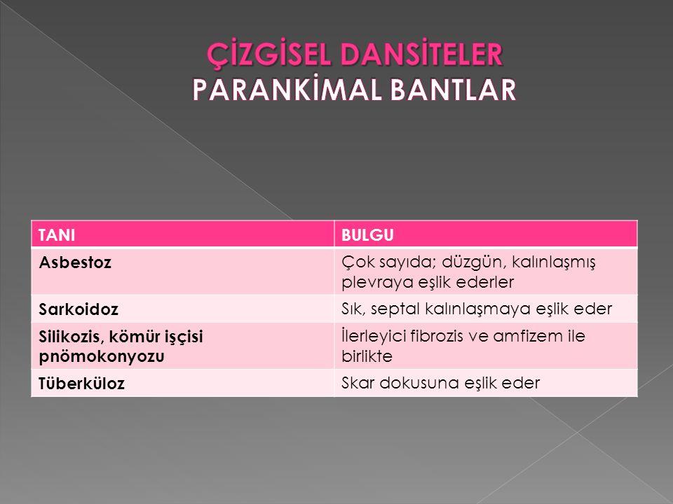 ÇİZGİSEL DANSİTELER PARANKİMAL BANTLAR