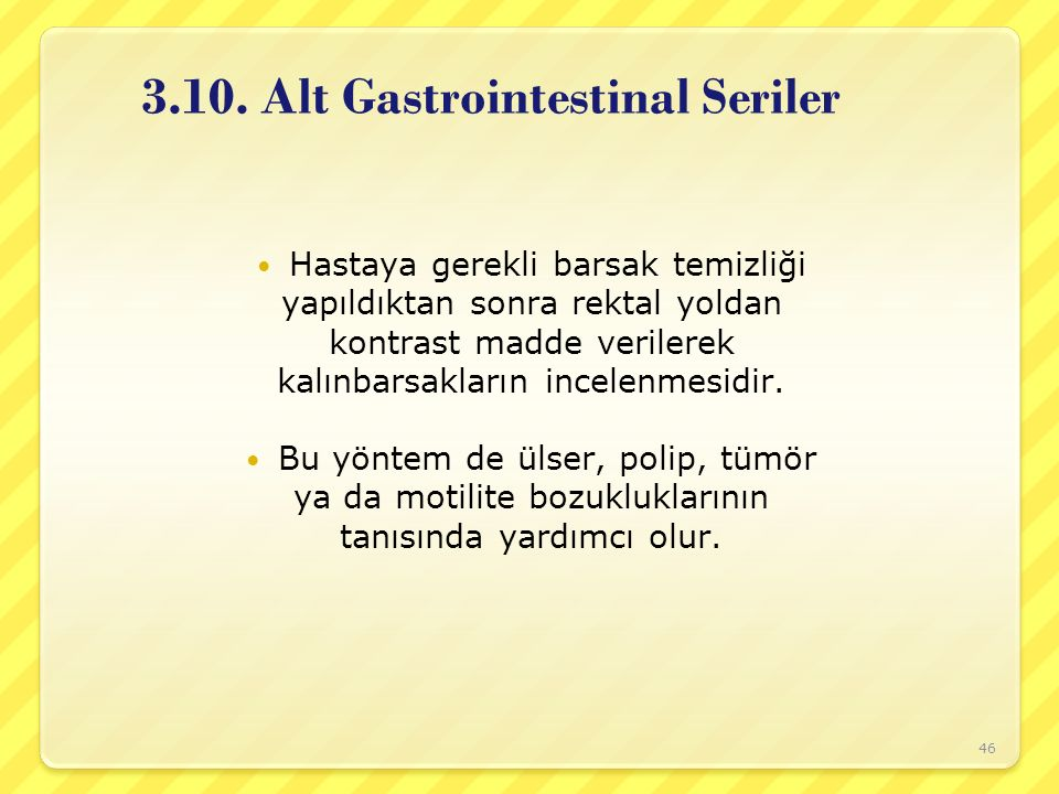 3.10. Alt Gastrointestinal Seriler