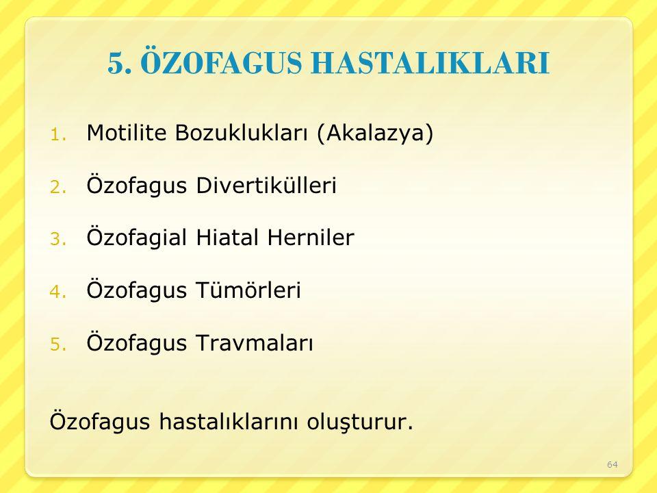 5. ÖZOFAGUS HASTALIKLARI