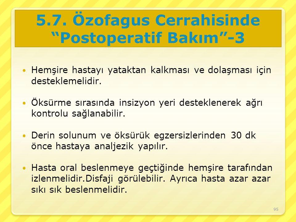 5.7. Özofagus Cerrahisinde Postoperatif Bakım -3