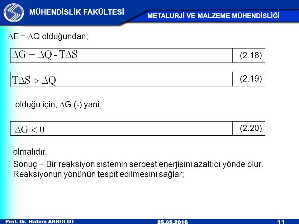 DE = DQ olduğundan; (2.18) (2.19) olduğu için, DG (-) yani; (2.20) olmalıdır.