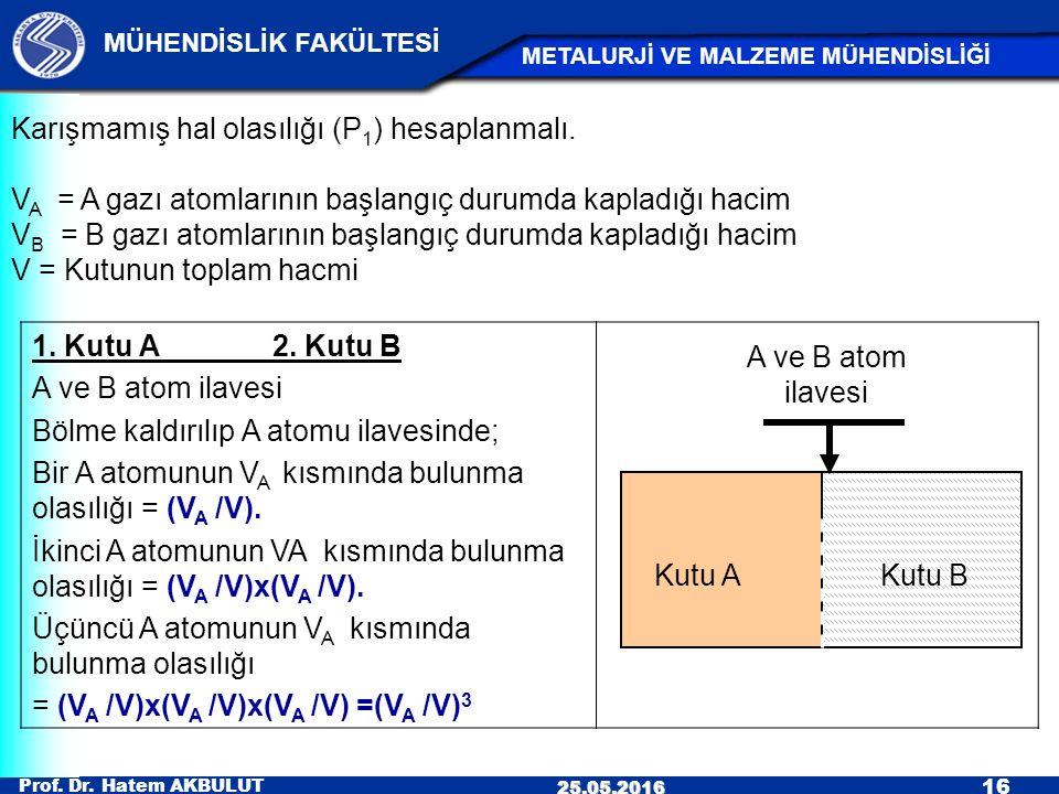 Karışmamış hal olasılığı (P1) hesaplanmalı.