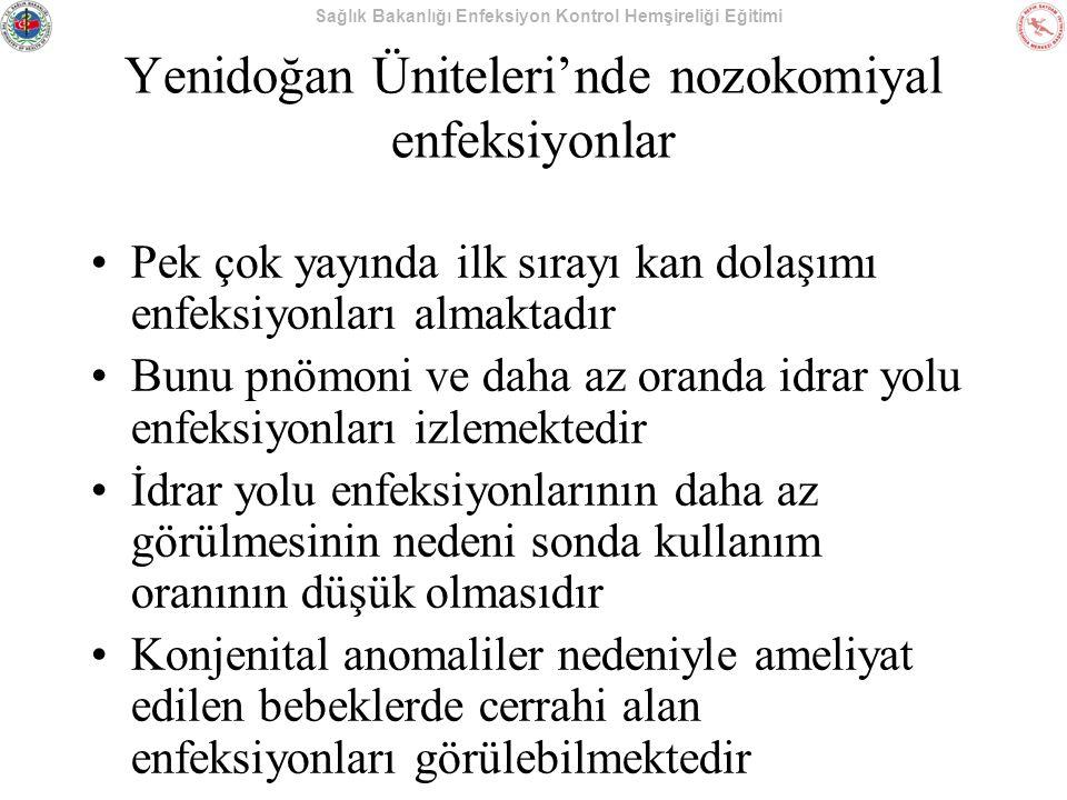 Yenidoğan Üniteleri'nde nozokomiyal enfeksiyonlar
