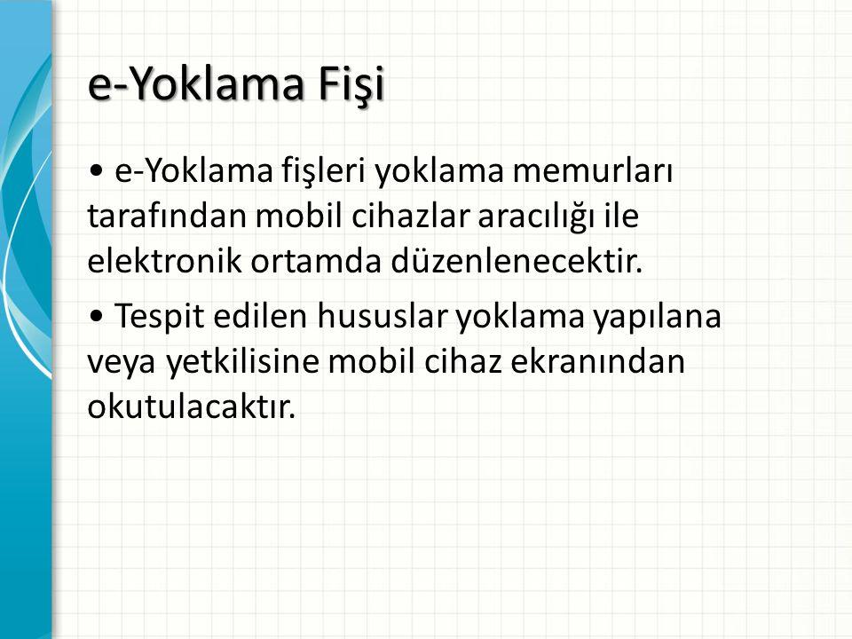 e-Yoklama Fişi