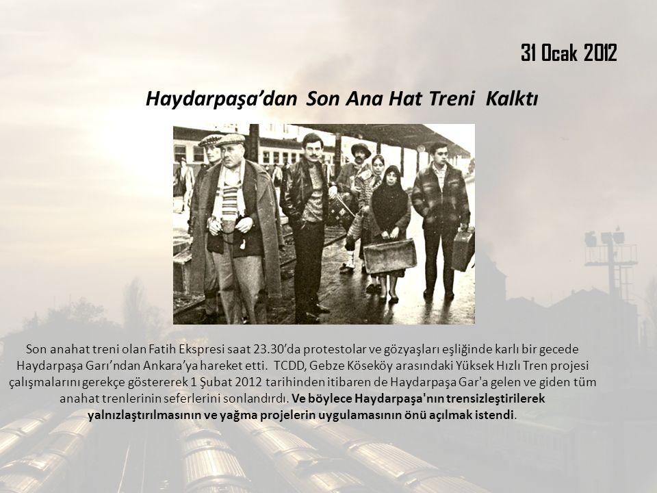 Haydarpaşa'dan Son Ana Hat Treni Kalktı