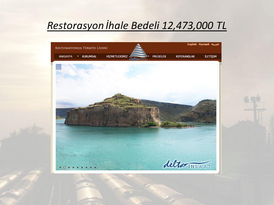 Restorasyon İhale Bedeli 12,473,000 TL