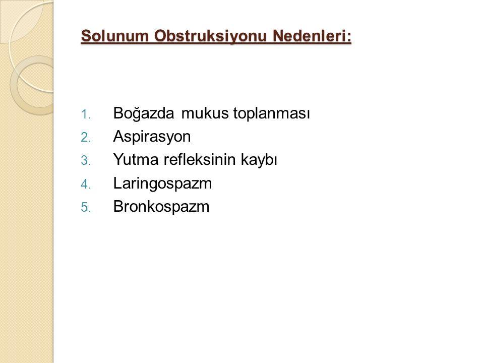 Solunum Obstruksiyonu Nedenleri: