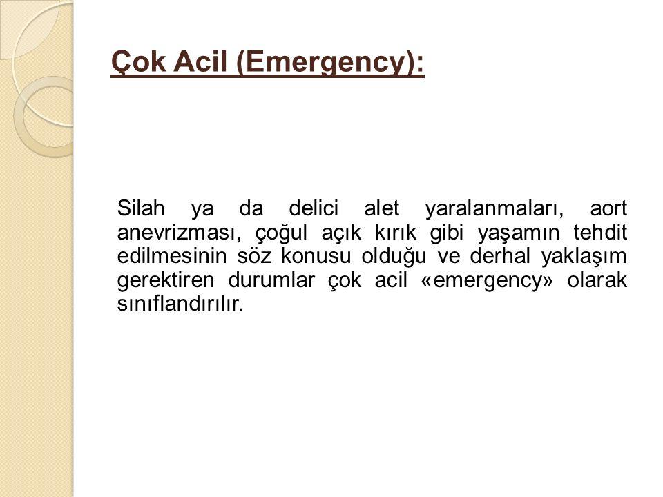 Çok Acil (Emergency):