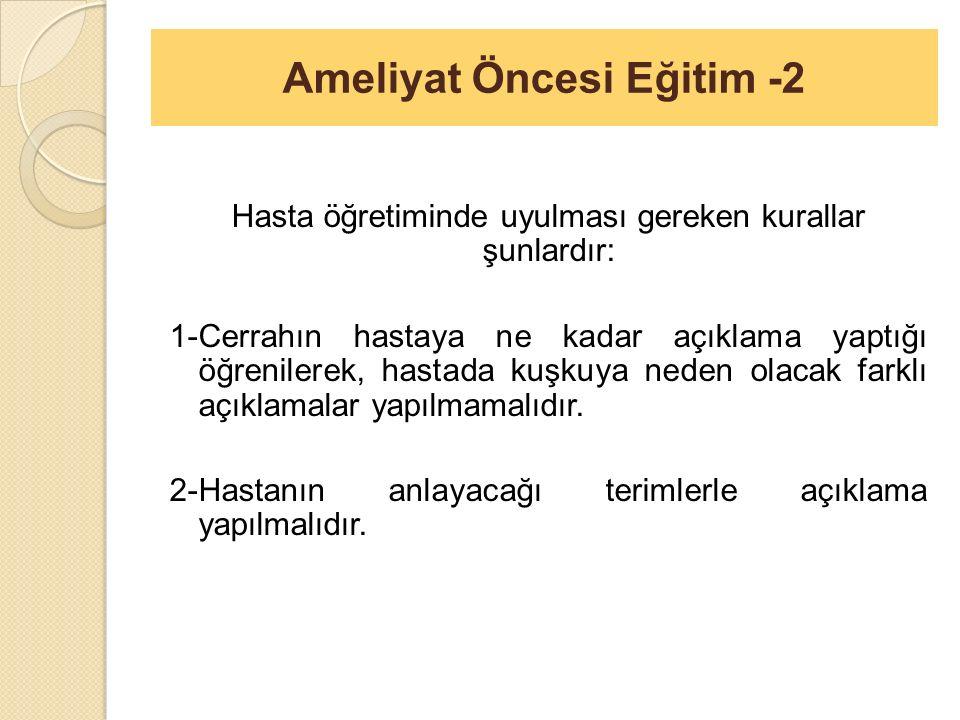 Ameliyat Öncesi Eğitim -2