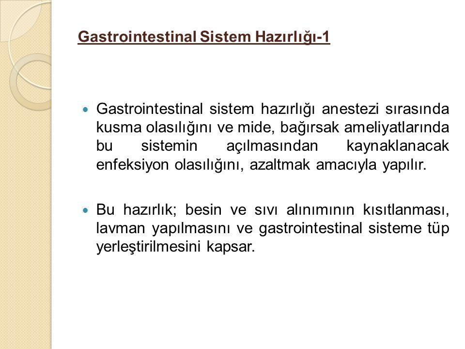 Gastrointestinal Sistem Hazırlığı-1