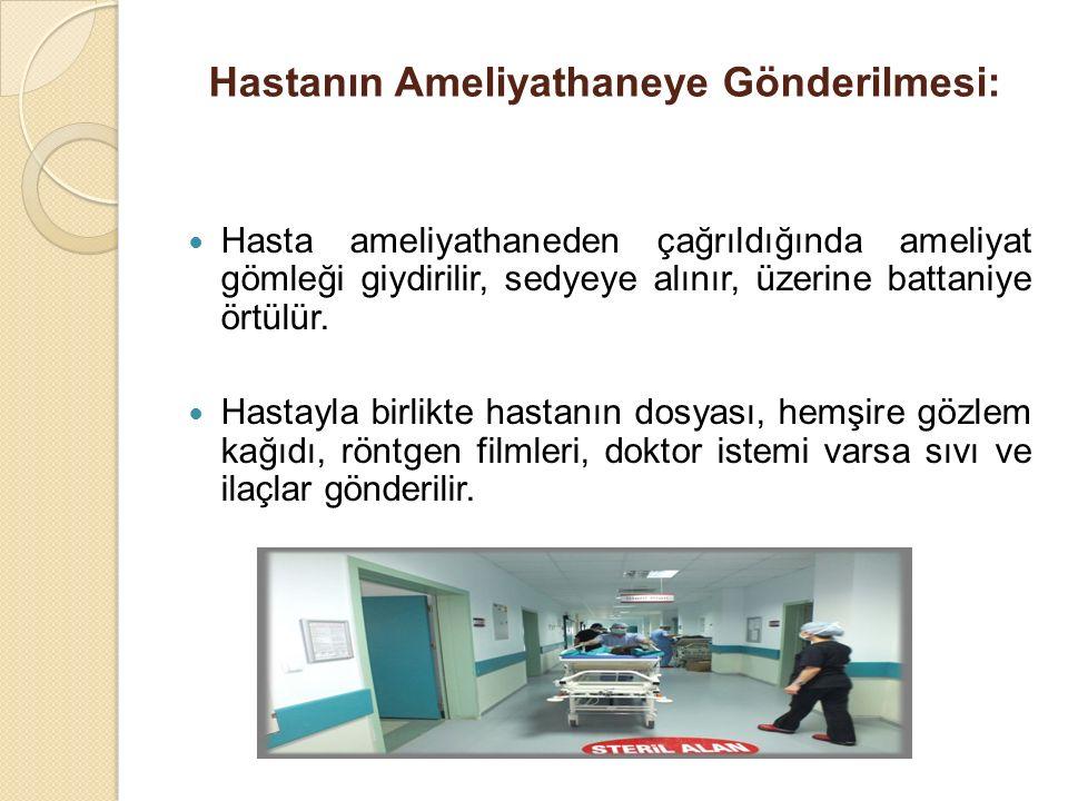 Hastanın Ameliyathaneye Gönderilmesi: