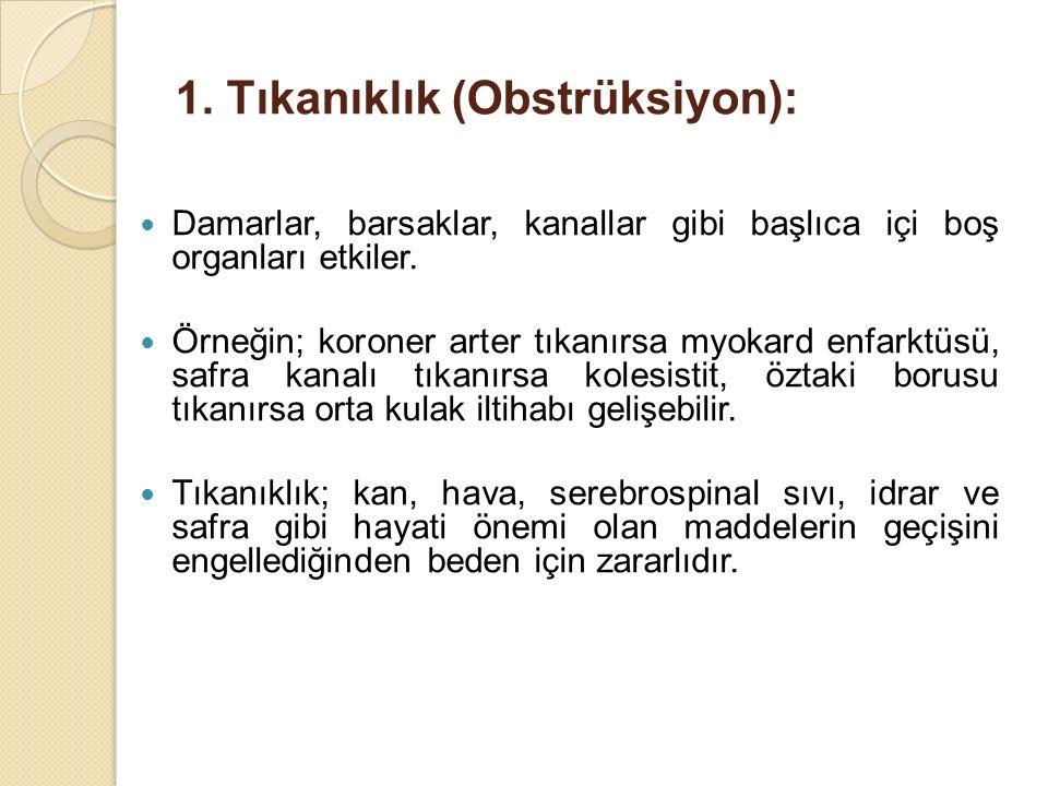 1. Tıkanıklık (Obstrüksiyon):