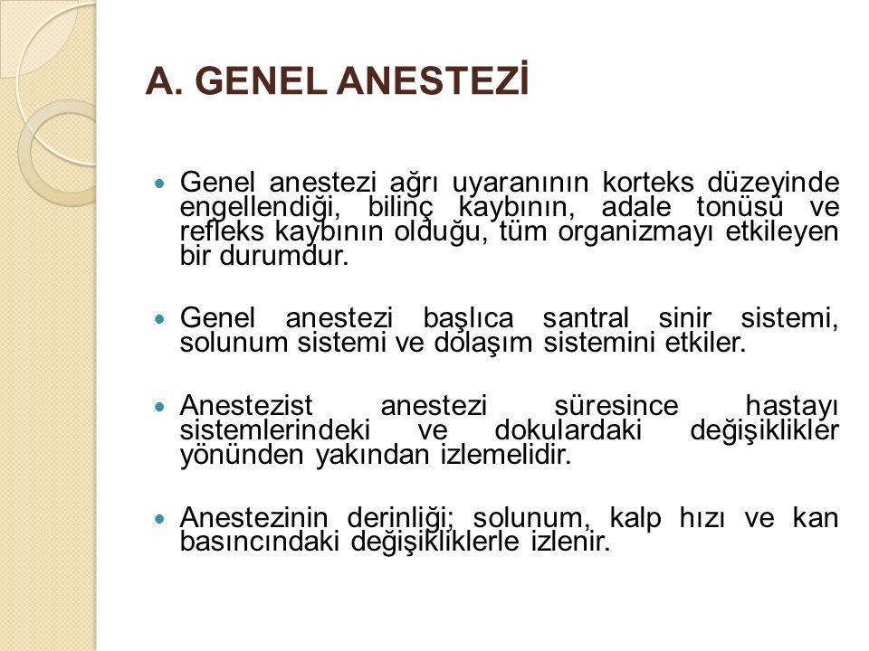 A. GENEL ANESTEZİ