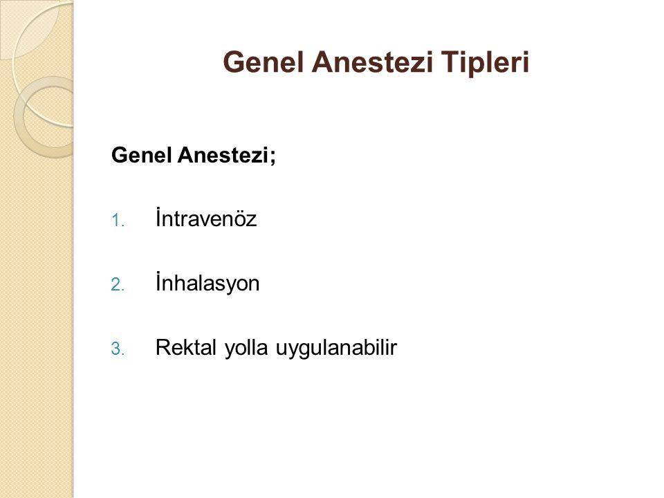 Genel Anestezi Tipleri