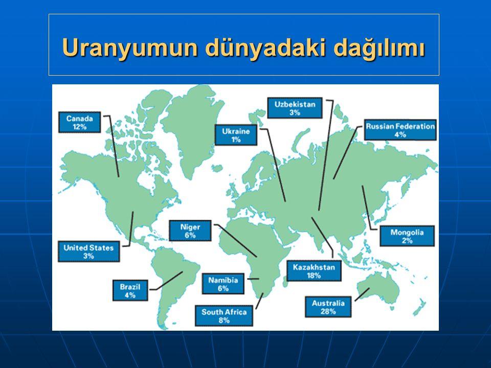 Uranyumun dünyadaki dağılımı