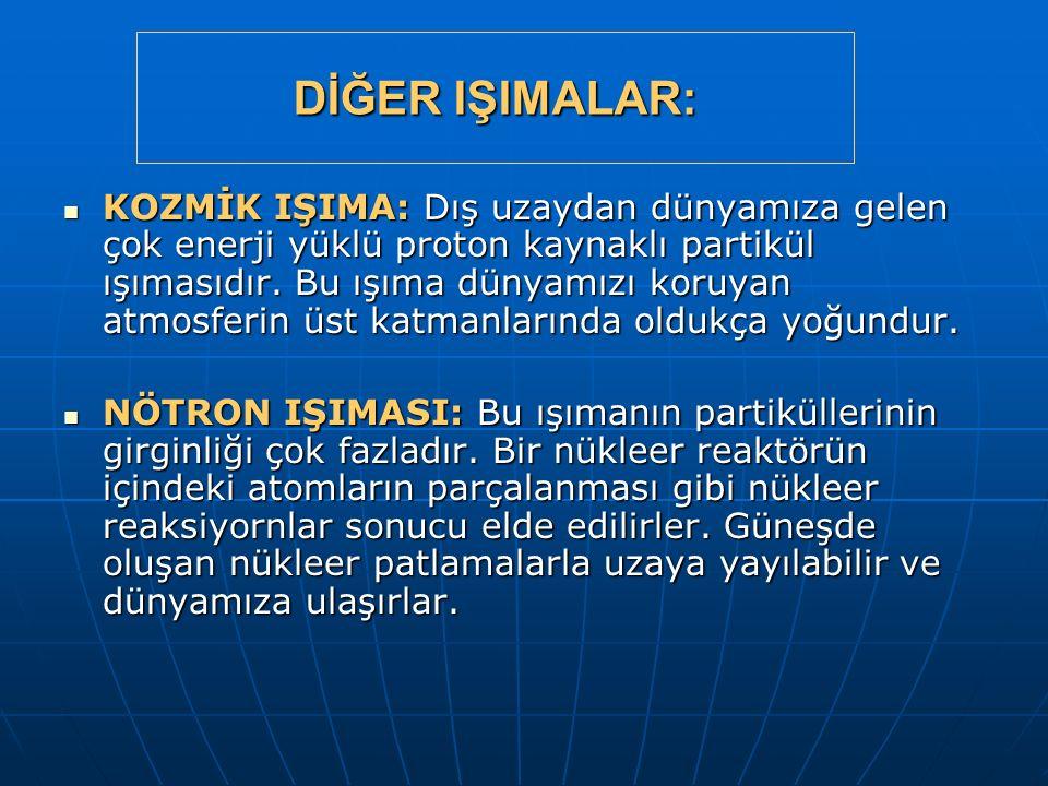 DİĞER IŞIMALAR: