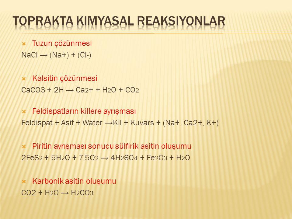 Toprakta Kimyasal Reaksiyonlar