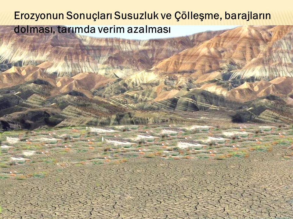 Erozyonun Sonuçları Susuzluk ve Çölleşme, barajların