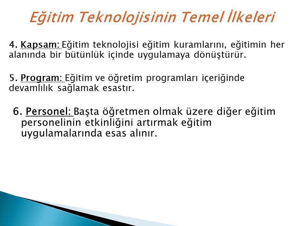 Eğitim Teknolojisinin Temel İlkeleri