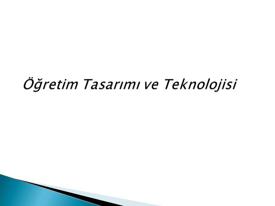Öğretim Tasarımı ve Teknolojisi