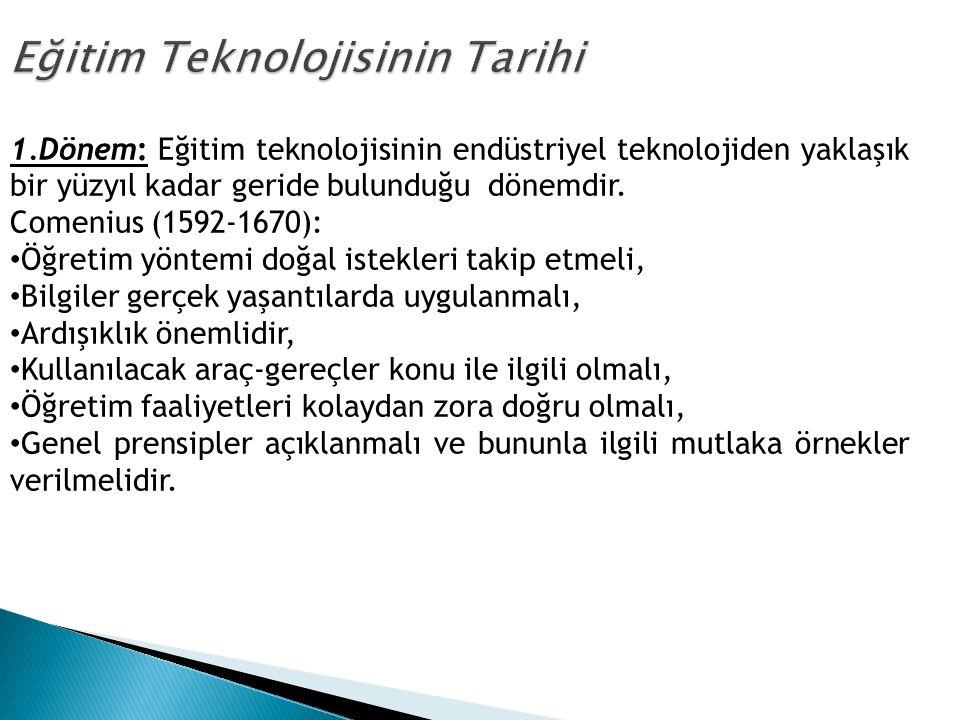 Eğitim Teknolojisinin Tarihi