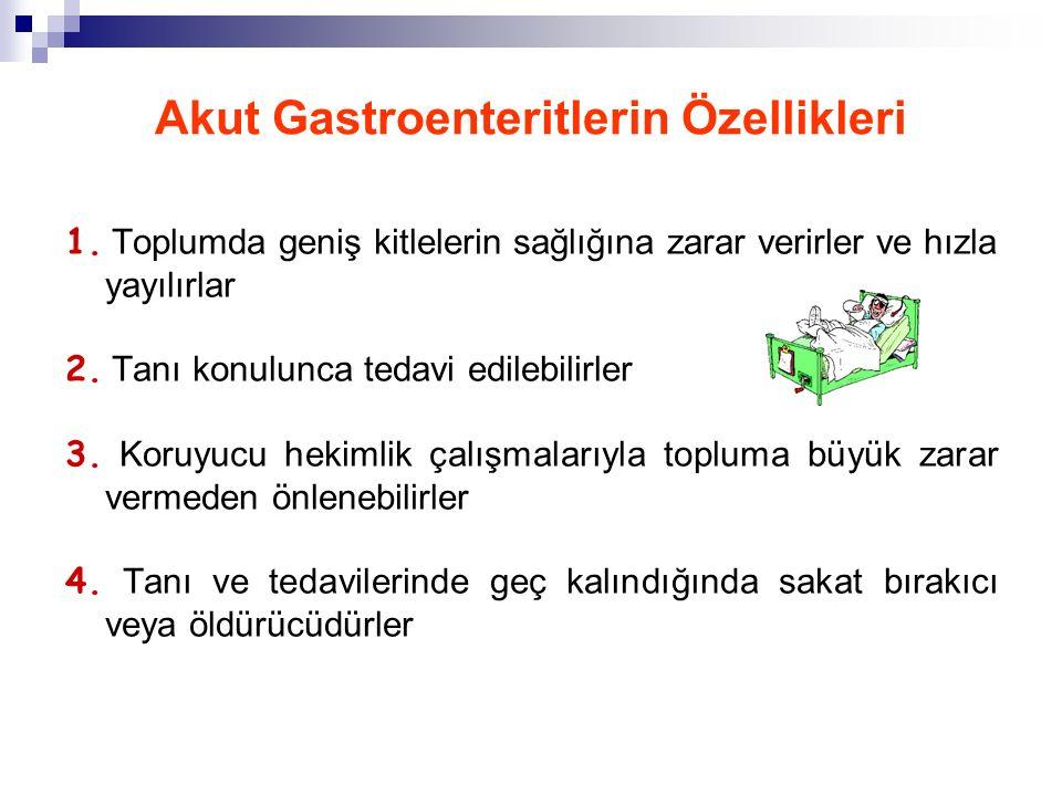 Akut Gastroenteritlerin Özellikleri