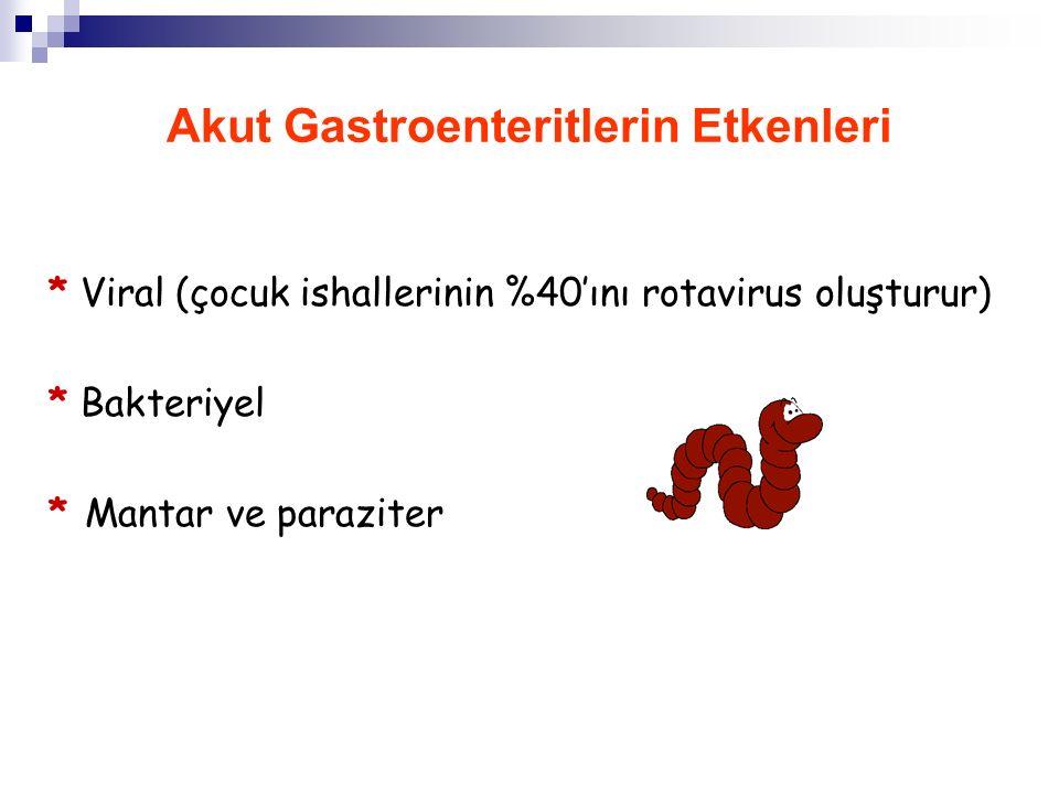 Akut Gastroenteritlerin Etkenleri