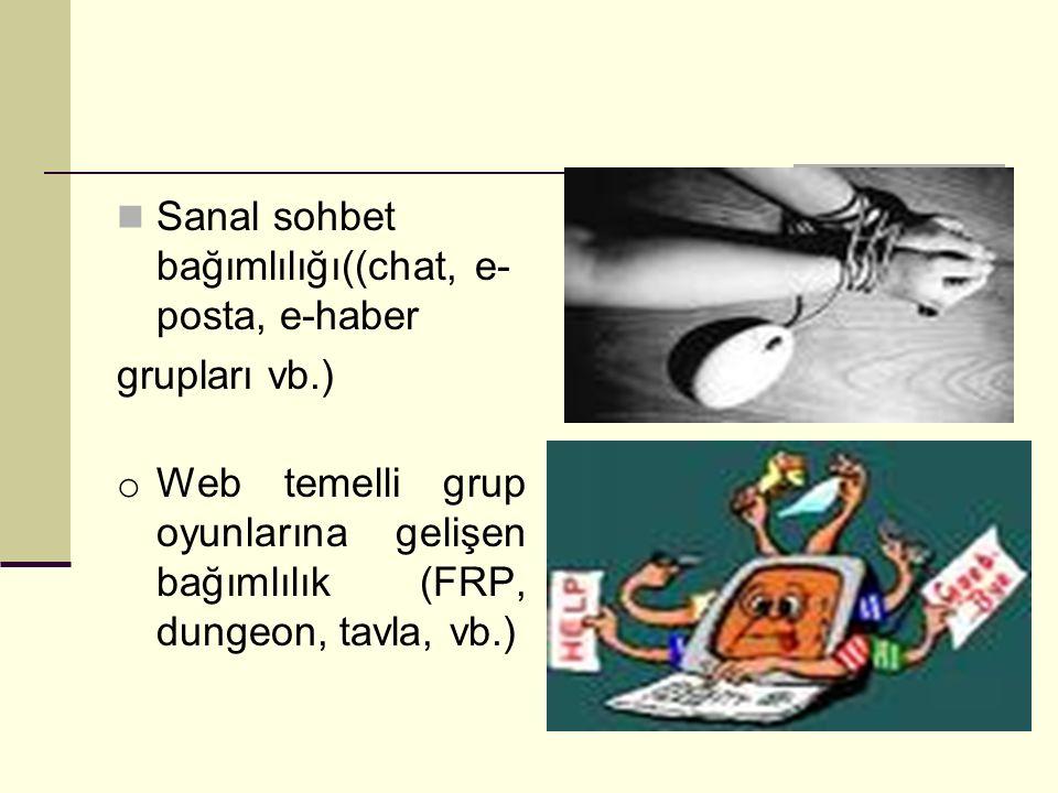Sanal sohbet bağımlılığı((chat, e-posta, e-haber