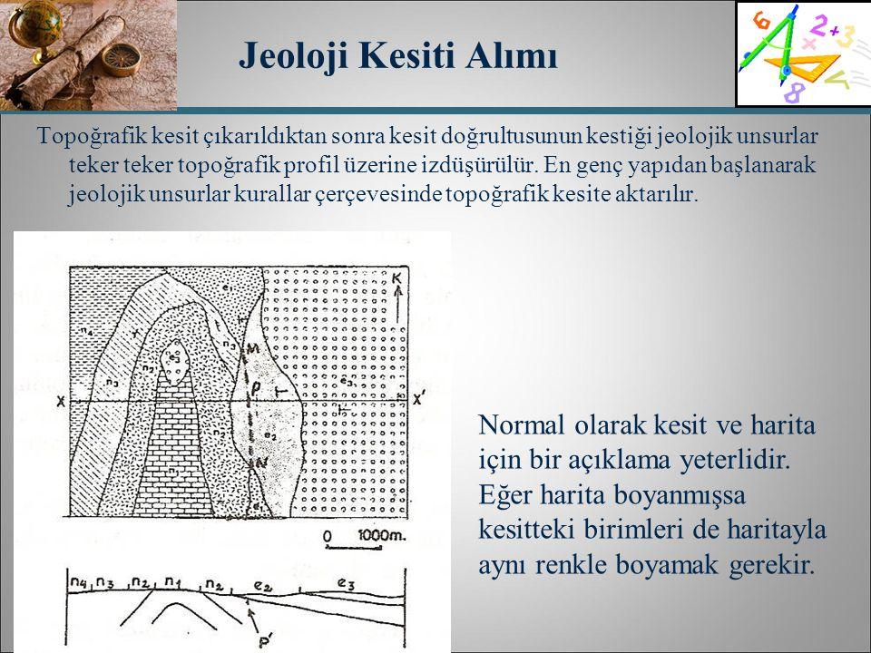 Jeoloji Kesiti Alımı