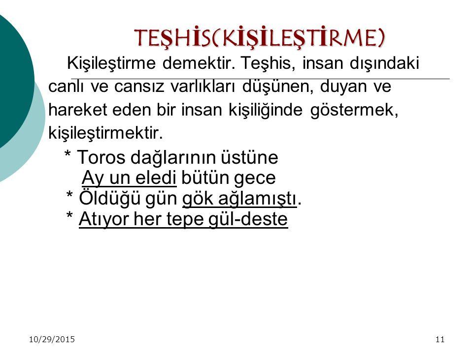 TEŞHİS(KİŞİLEŞTİRME)