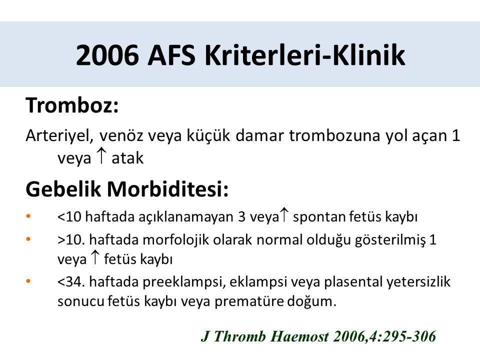 2006 AFS Kriterleri-Klinik