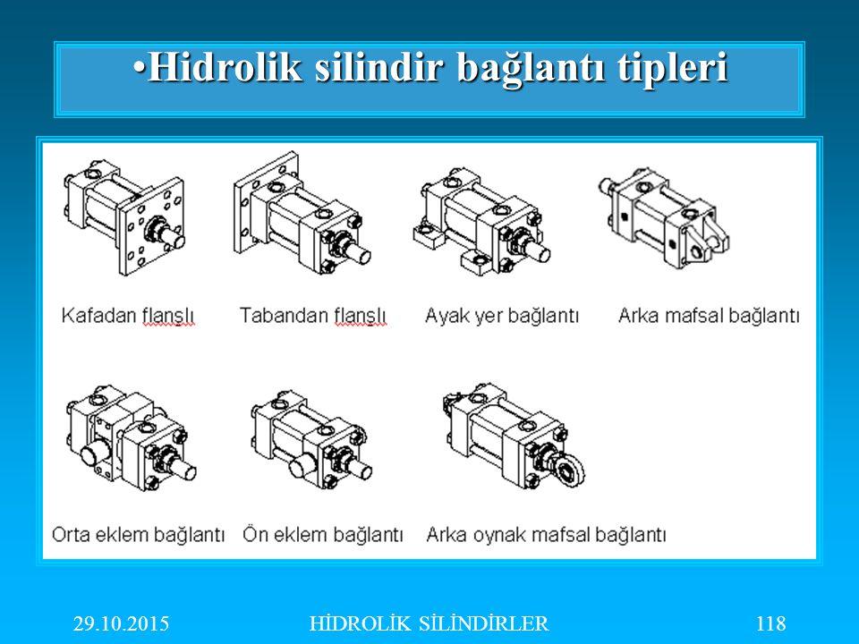 Hidrolik silindir bağlantı tipleri