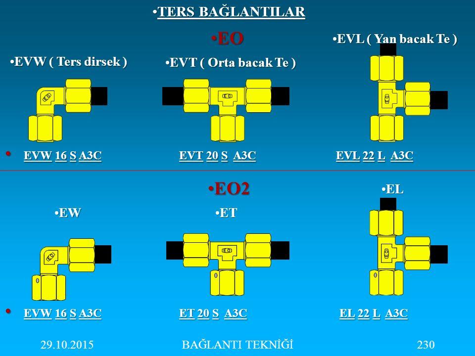 EO EVW 16 S A3C EVT 20 S A3C EVL 22 L A3C EO2
