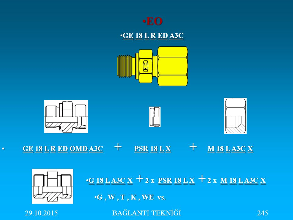 EO GE 18 L R ED A3C GE 18 L R ED OMD A3C + PSR 18 L X + M 18 L A3C X