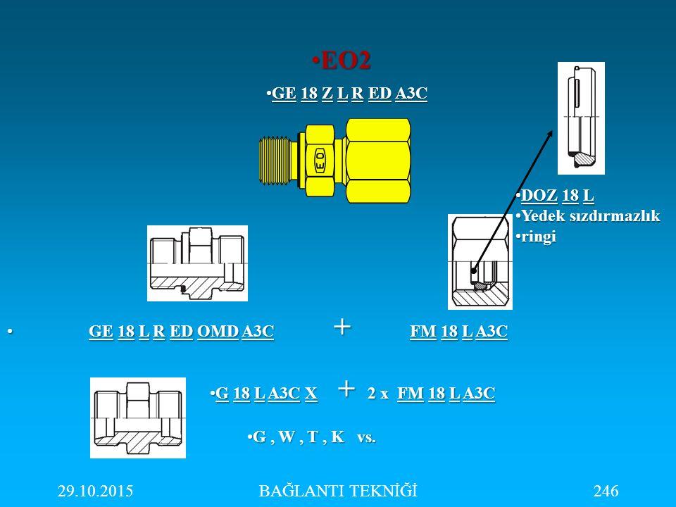 EO2 GE 18 Z L R ED A3C DOZ 18 L Yedek sızdırmazlık ringi