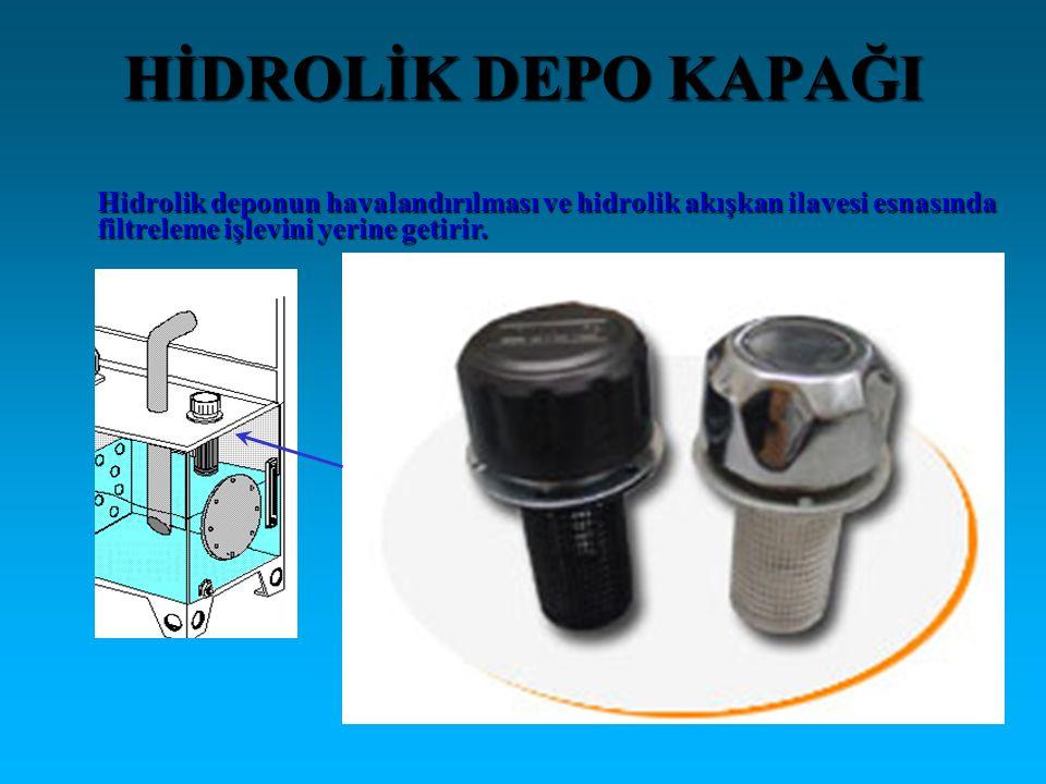 HİDROLİK DEPO KAPAĞI Hidrolik deponun havalandırılması ve hidrolik akışkan ilavesi esnasında.
