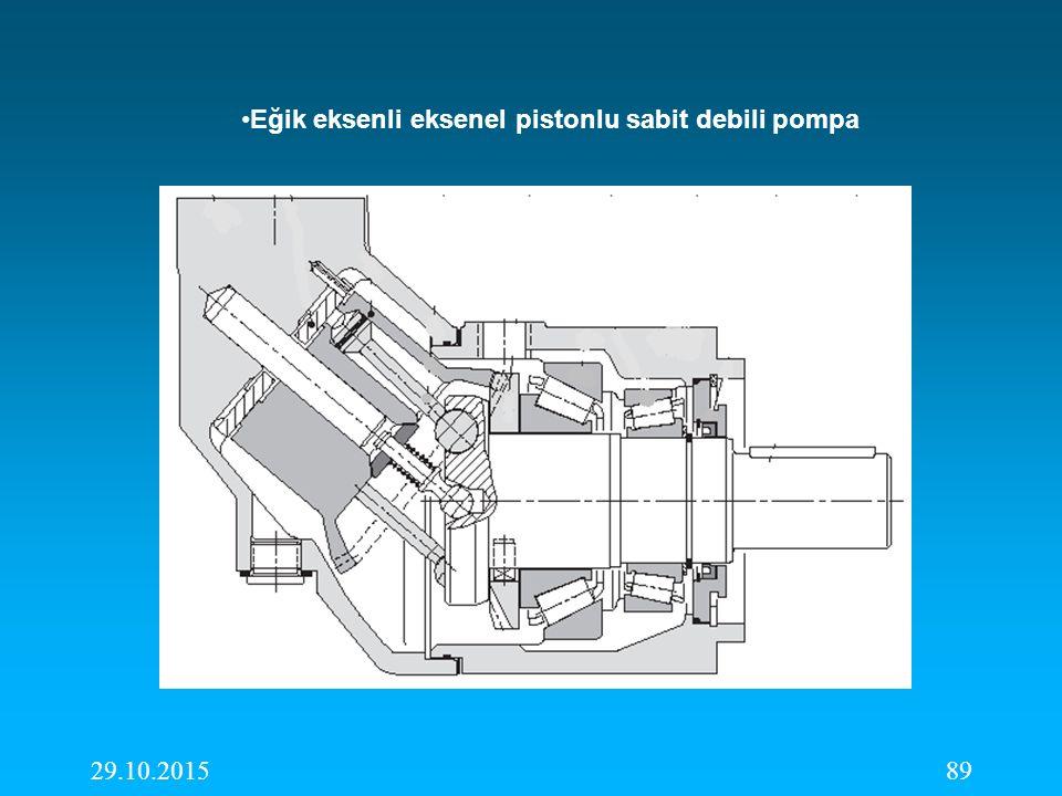 Eğik eksenli eksenel pistonlu sabit debili pompa