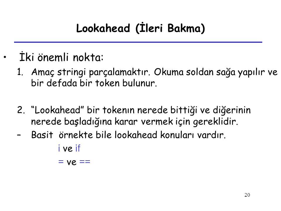 Lookahead (İleri Bakma)