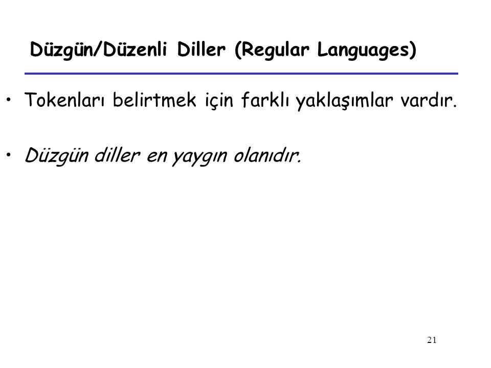 Düzgün/Düzenli Diller (Regular Languages)