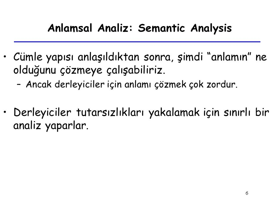 Anlamsal Analiz: Semantic Analysis