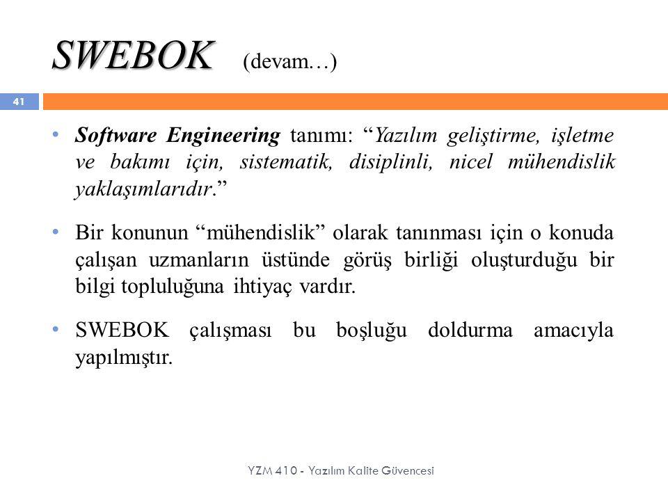 SWEBOK (devam…)