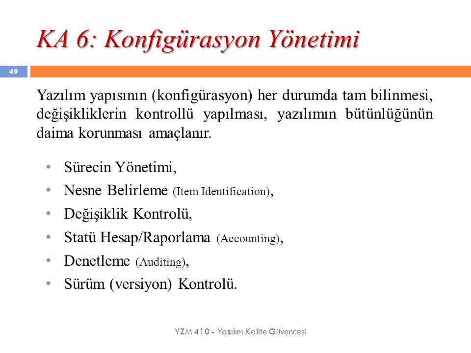 KA 6: Konfigürasyon Yönetimi
