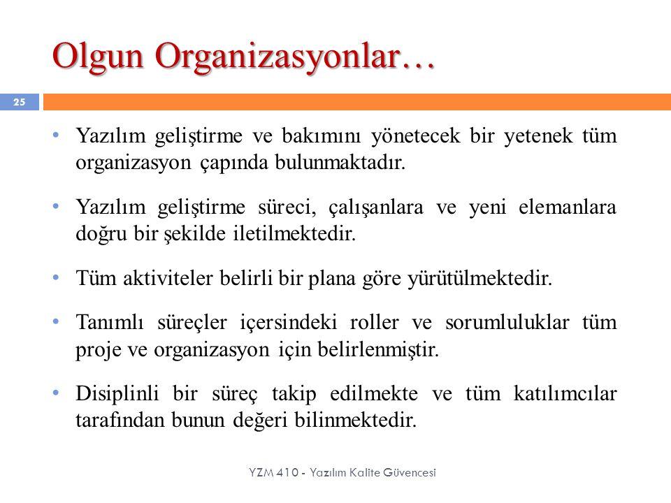 Olgun Organizasyonlar…