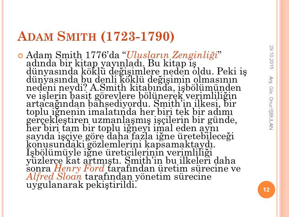 Adam Smith (1723-1790) 25.04.2017.