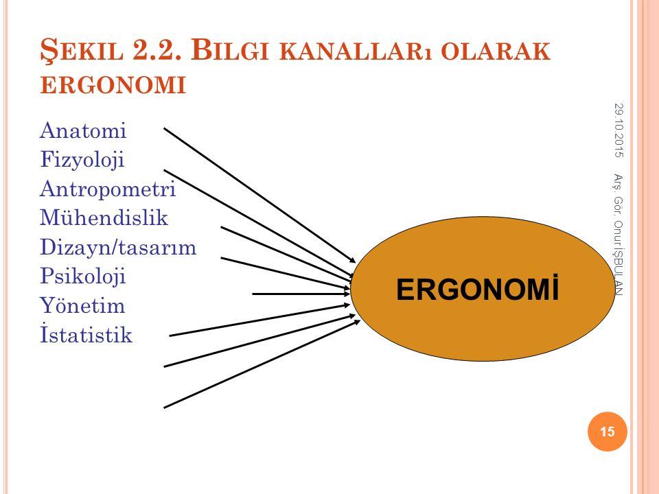 Şekil 2.2. Bilgi kanalları olarak ergonomi
