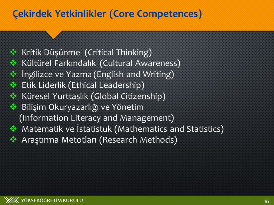 Çekirdek Yetkinlikler (Core Competences)