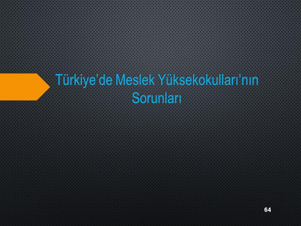Türkiye'de Meslek Yüksekokulları'nın Sorunları